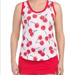 Jofit Cherry Print Tennis Tank Top